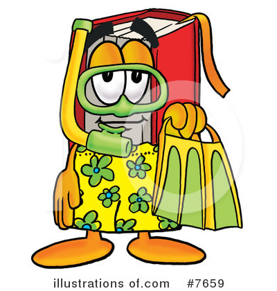 Royalty-Free (RF) Book Clipart Illustration by Toons4Biz - Stock Sample #7659