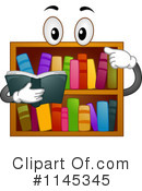 Royalty-Free (RF) Book Shelf Clipart Illustration #1145345