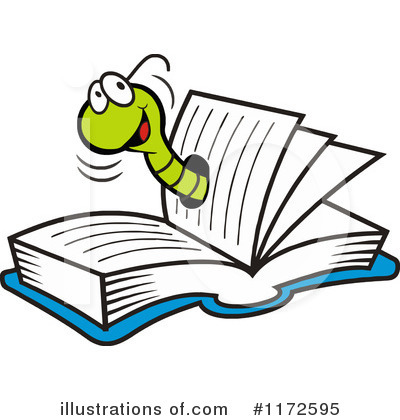 Reading Clipart #1172595 by Johnny Sajem