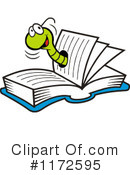 Book Worm Clipart #1172595 by Johnny Sajem