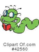 Book Worm Clipart #42560 by Dennis Holmes Designs