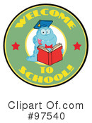 Book Worm Clipart #97540 by Hit Toon
