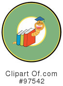 Book Worm Clipart #97542 by Hit Toon