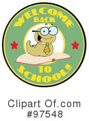 Book Worm Clipart #97548 by Hit Toon