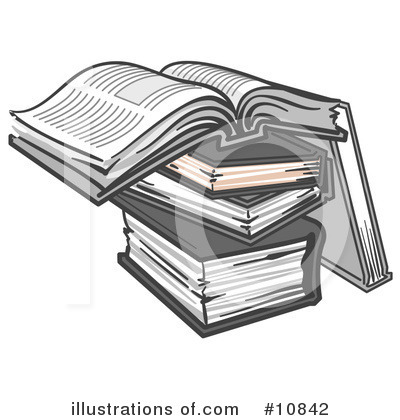 Royalty-Free (RF) Books Clipart Illustration by Leo Blanchette - Stock Sample #10842