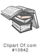Books Clipart #10842 by Leo Blanchette