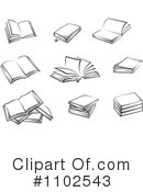 Books Clipart #1102543 by Vector Tradition SM
