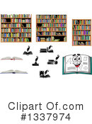 Royalty-Free (RF) Books Clipart Illustration #1337974