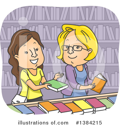 Library Clipart #1384215 by BNP Design Studio