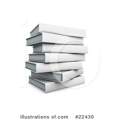 Royalty-Free (RF) Books Clipart Illustration by KJ Pargeter - Stock Sample #22430