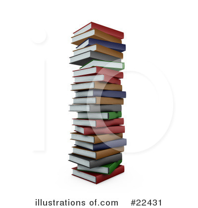 Royalty-Free (RF) Books Clipart Illustration by KJ Pargeter - Stock Sample #22431