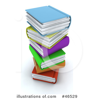 Royalty-Free (RF) Books Clipart Illustration by KJ Pargeter - Stock Sample #46529