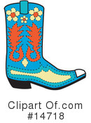 Royalty-Free (RF) Boot Clipart Illustration #14718