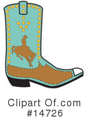 Royalty-Free (RF) Boot Clipart Illustration #14726