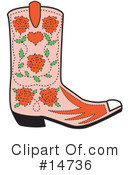 Royalty-Free (RF) Boot Clipart Illustration #14736