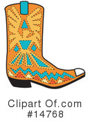 Royalty-Free (RF) Boot Clipart Illustration #14768