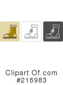 Royalty-Free (RF) Boot Clipart Illustration #216983