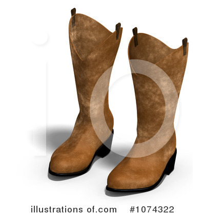 Cowboy Boots Clipart #1074322 by Ralf61
