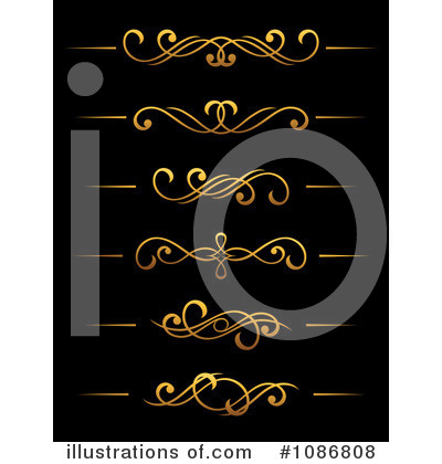 Gold Design Elements Clipart #1086808 by Vector Tradition SM