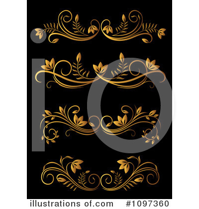 Gold Design Elements Clipart #1097360 by Vector Tradition SM