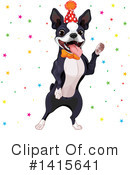 Boston Terrier Clipart #1415641 by Pushkin
