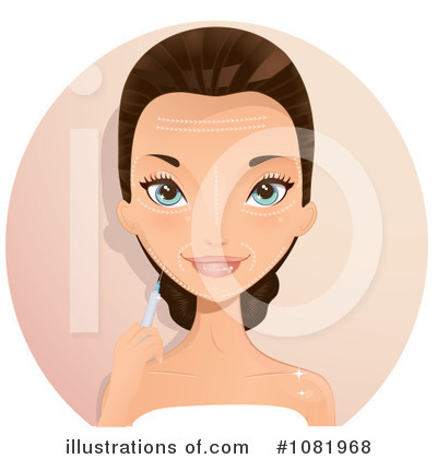 Royalty-Free (RF) Botox Clipart Illustration by Melisende Vector - Stock Sample #1081968