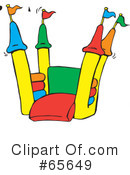 Bounce House Clipart #65649 by Dennis Holmes Designs