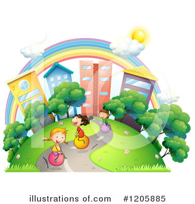 Park Clipart #1205885 by Graphics RF