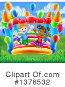 Royalty-Free (RF) Bouncy House Clipart Illustration #1376532