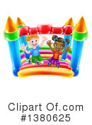 Royalty-Free (RF) Bouncy House Clipart Illustration #1380625