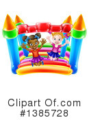 Royalty-Free (RF) Bouncy House Clipart Illustration #1385728