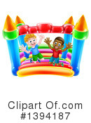 Royalty-Free (RF) Bouncy House Clipart Illustration #1394187