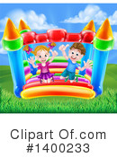 Royalty-Free (RF) Bouncy House Clipart Illustration #1400233