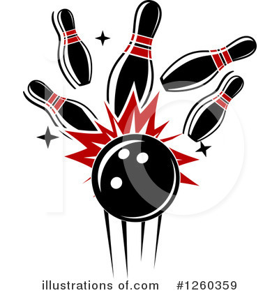 Bowling Clipart #1260359 by Vector Tradition SM