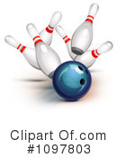 Royalty-Free (RF) Bowling Clipart Illustration #1097803