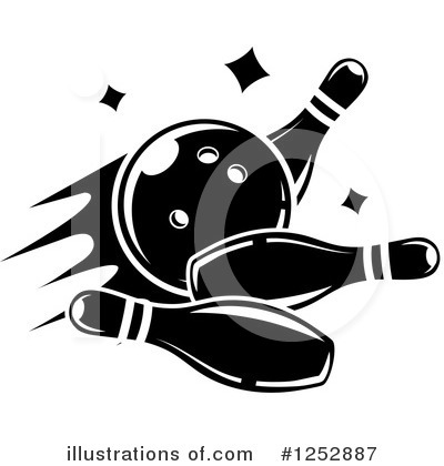 Bowling Clipart #1252887 by Vector Tradition SM
