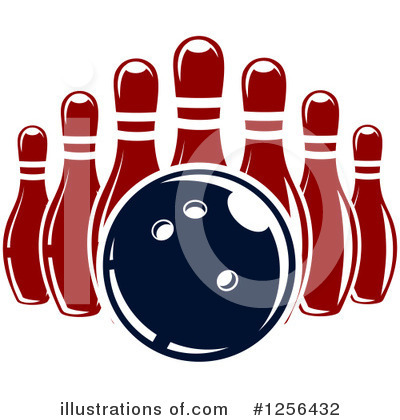 Bowling Clipart #1256432 by Vector Tradition SM