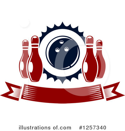 Bowling Clipart #1257340 by Vector Tradition SM