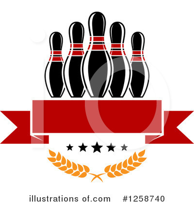 Bowling Clipart #1258740 by Vector Tradition SM