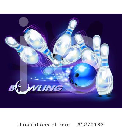Royalty-Free (RF) Bowling Clipart Illustration by Oligo - Stock Sample #1270183