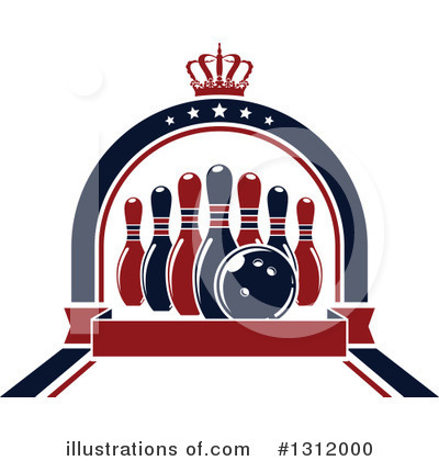 Royalty-Free (RF) Bowling Clipart Illustration by Vector Tradition SM - Stock Sample #1312000