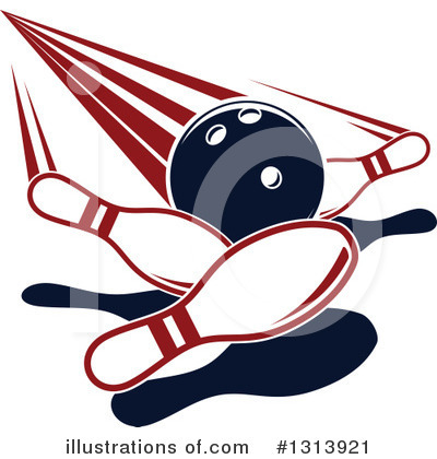 Royalty-Free (RF) Bowling Clipart Illustration by Vector Tradition SM - Stock Sample #1313921