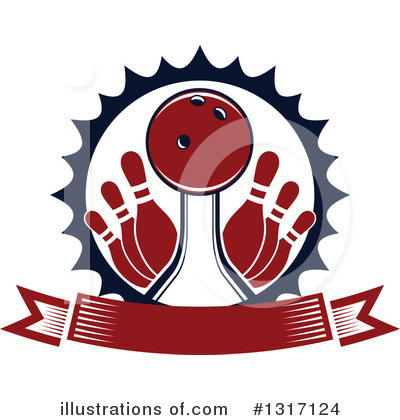 Bowling Clipart #1317124 by Vector Tradition SM