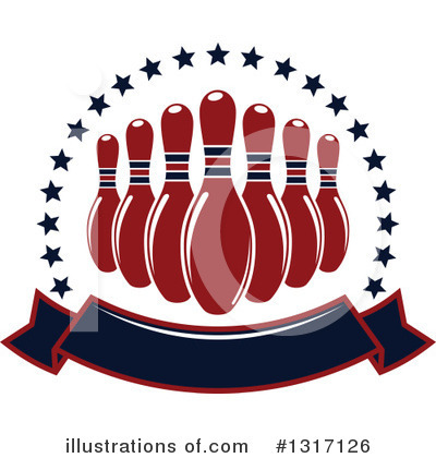 Bowling Clipart #1317126 by Vector Tradition SM