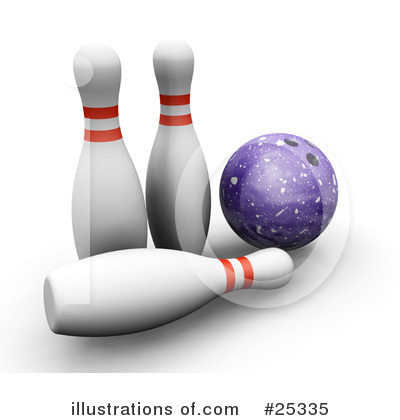 Royalty-Free (RF) Bowling Clipart Illustration by KJ Pargeter - Stock Sample #25335