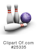 Royalty-Free (RF) Bowling Clipart Illustration #25335
