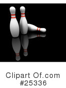 Royalty-Free (RF) Bowling Clipart Illustration #25336