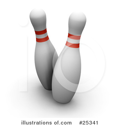 Royalty-Free (RF) Bowling Clipart Illustration by KJ Pargeter - Stock Sample #25341