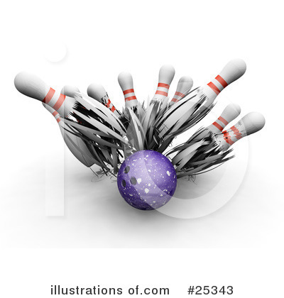 Royalty-Free (RF) Bowling Clipart Illustration by KJ Pargeter - Stock Sample #25343