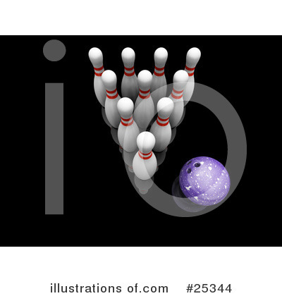 Royalty-Free (RF) Bowling Clipart Illustration by KJ Pargeter - Stock Sample #25344
